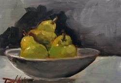Art: Bowl of Pears by Artist Delilah Smith