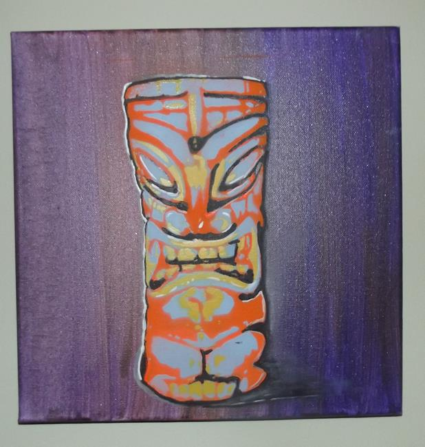 Art: Original Graffiti Tiki Cup #1 by Artist Paul Lake, Lucky Studios