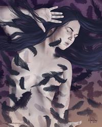 Art: Raven Queen Rising by Artist Amanda Makepeace