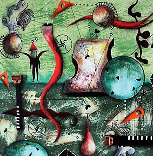 Art: Miro Tribute by Artist Vicky Helms