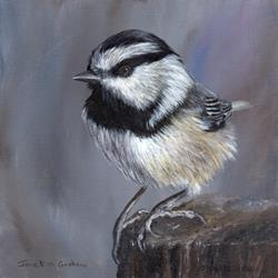 Art: Mountain Chickadee No 3 by Artist Janet M Graham