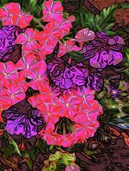 Art: pink spray lr by Artist Alma Lee