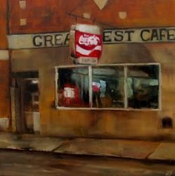 Art: Cafe at Dusk by Artist Christine E. S. Code ~CES~