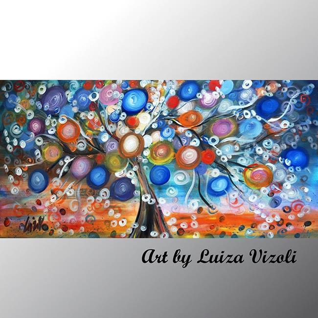 Art: FALLING STARS by Artist LUIZA VIZOLI