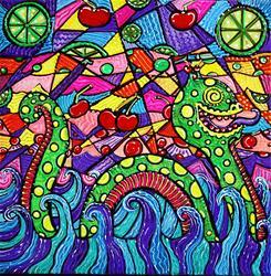 Art: Nessie Loves Cherry Limeade by Artist Laura Barbosa