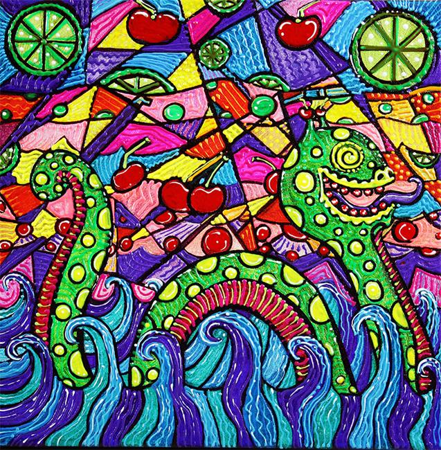 Art: Nessie Loves Cherry Limeade by Artist Laura Barbosa