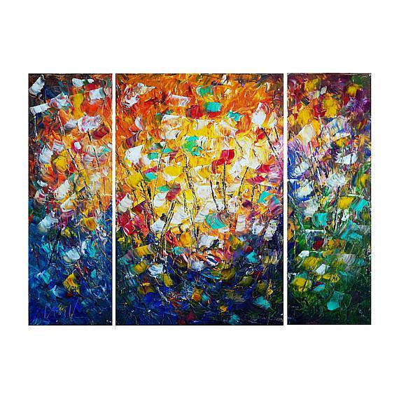 Art: SUMMER FLOWERS .... by Artist LUIZA VIZOLI