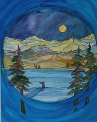 Art: Silence (sold) by Artist Kathy Crawshay