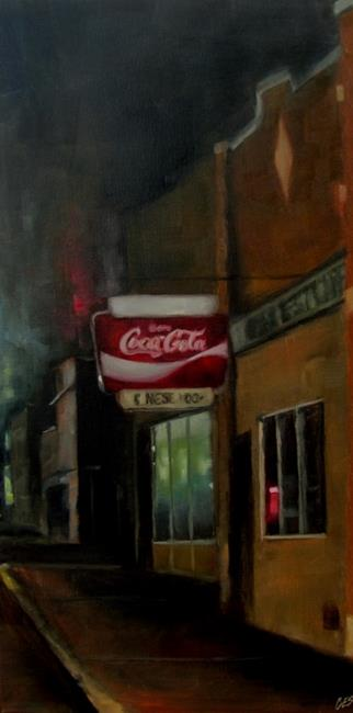 Art: Cafe at Night by Artist Christine E. S. Code ~CES~