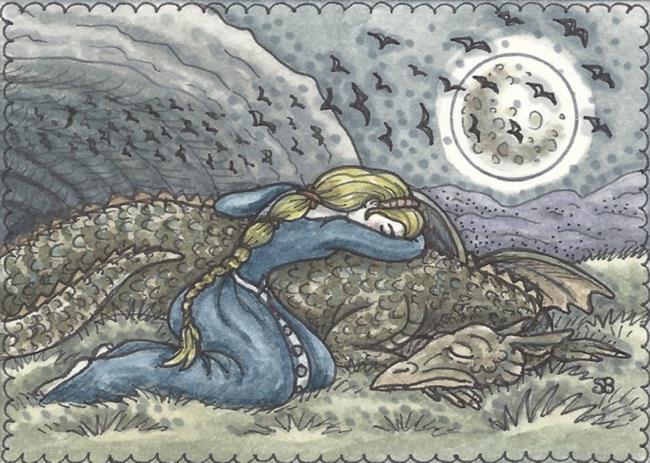 Art: WHEN DRAGONS FALL by Artist Susan Brack