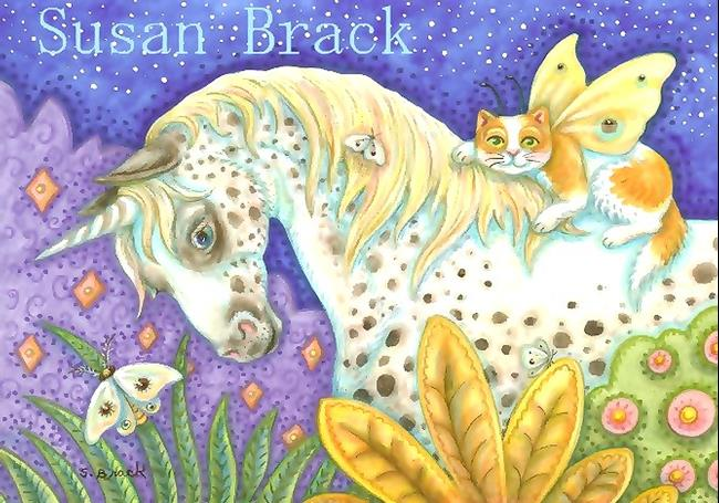 Art: APPALOOSA UNICORN 2 by Artist Susan Brack