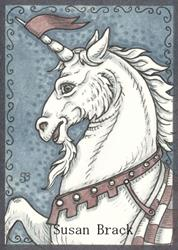 Art: MEDIEVAL UNICORN by Artist Susan Brack