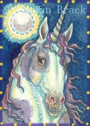Art: MOON SHADOW MUSTANG by Artist Susan Brack