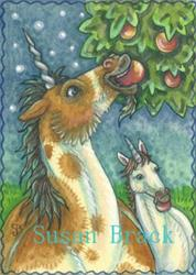 Art: NIGHT IN THE ORCHARD by Artist Susan Brack