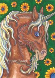Art: RED STALLION by Artist Susan Brack