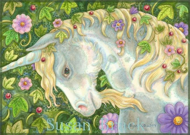 Art: UNICORN AND IVY by Artist Susan Brack