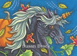 Art: UNICORN AND THE GREAT PUMPKIN by Artist Susan Brack