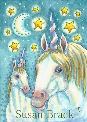 Art: UNICORNS MAKE THE STARS TWINKLE by Artist Susan Brack