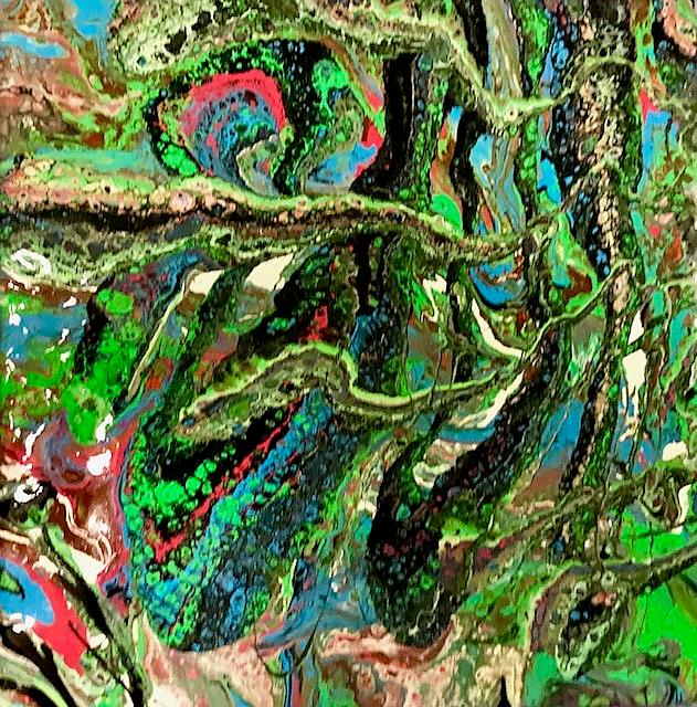 Art: Fluid Acrylic Abstract  Painting by Artist Ulrike 'Ricky' Martin