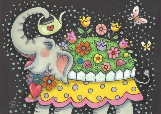 Art: ELLA'S FANTASY GARDEN by Artist Susan Brack