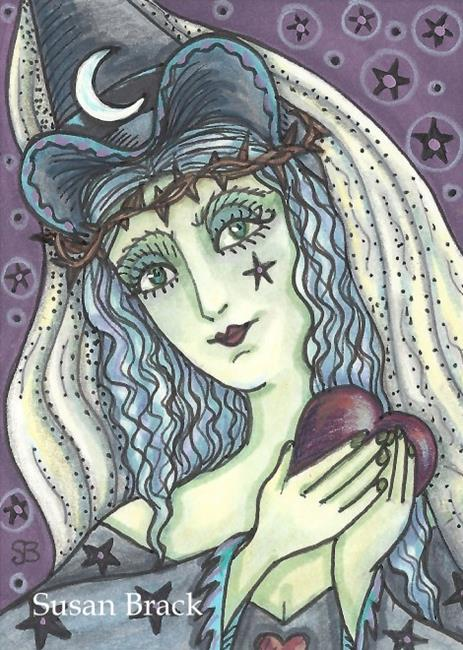 Art: BLACK HEART OF A WITCH by Artist Susan Brack