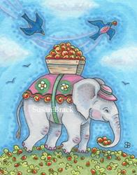 Art: STRAWBERRY FIELDS by Artist Susan Brack
