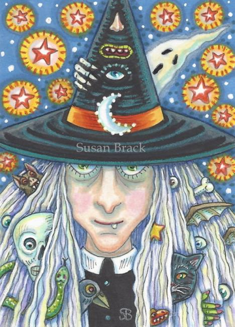 Art: THE WITCH OF HALLOWS EVE by Artist Susan Brack