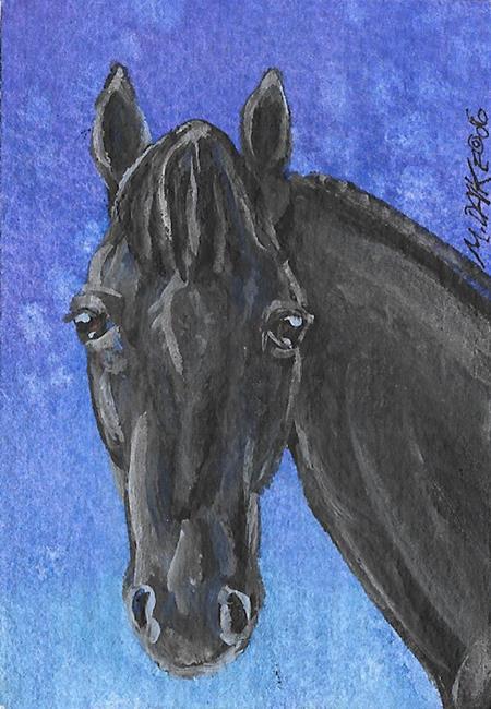 Art: Jet Black by Artist Melinda Dalke