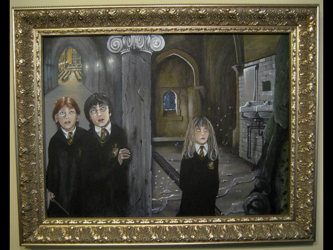 Art: Harry Potter There is a Troll in the Castle JABlackwell Harry Potter Art Or by Artist J A Blackwell