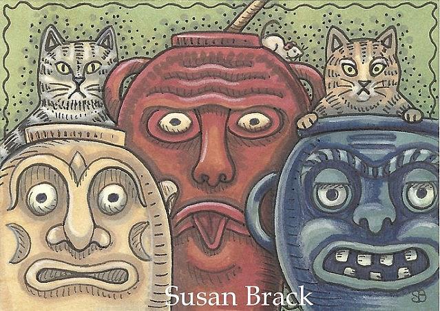 Art: MAKE A FACE by Artist Susan Brack