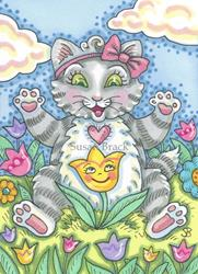 Art: FRIENDLY TULIP by Artist Susan Brack