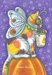 Art: HALLOWEEN CALICO by Artist Susan Brack