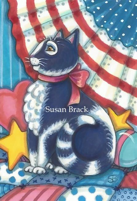 Art: RED WHITE AND BLUE AND INDIGO TOO by Artist Susan Brack