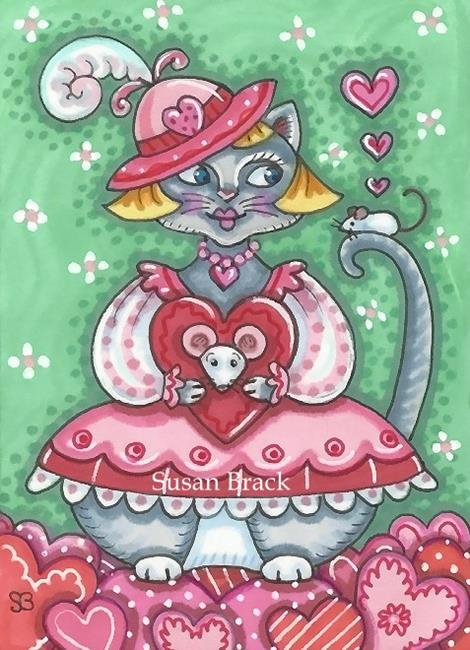 Art: YOU MAKE MY HEART PURR by Artist Susan Brack