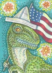 Art: ALL AMERICAN DINO by Artist Susan Brack