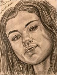 Art: SELENA GORGEOUS GOMEZ. by Artist William Powell Brukner