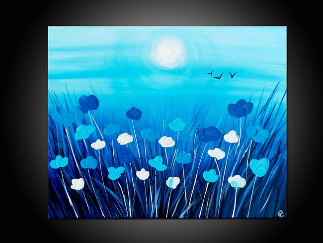 Art: BLUE POPPIES by Artist Kate Challinor
