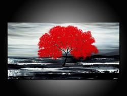 Art: MY BIG RED TREE by Artist Kate Challinor
