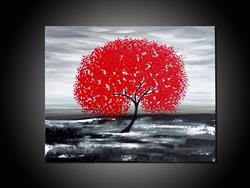Art: MY RED TREE by Artist Kate Challinor