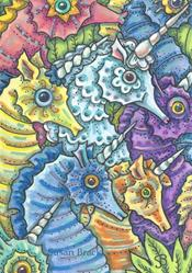 Art: SEAHORSE FANTASY by Artist Susan Brack