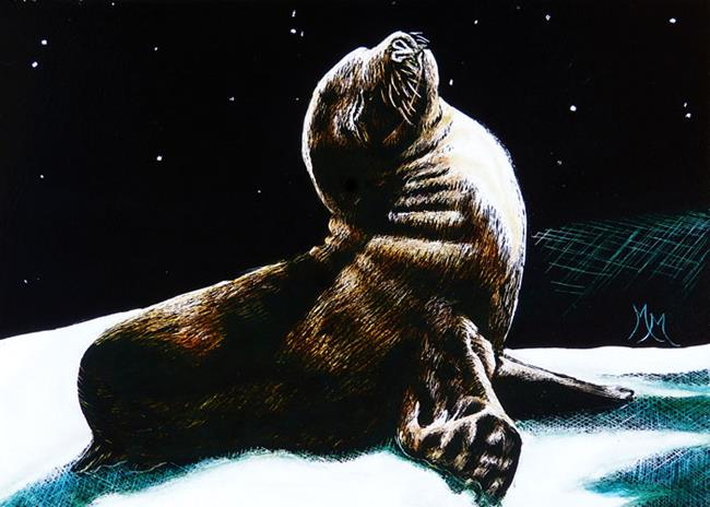 Art: Seal Pup  (SOLD) by Artist Monique Morin Matson