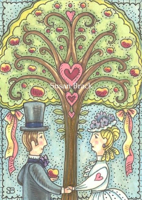 Art: WEDDING TREE by Artist Susan Brack