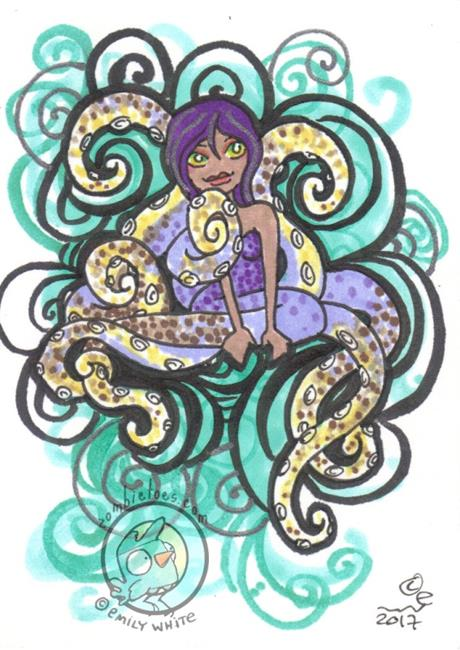 Art: Squiggle by Artist Emily J White