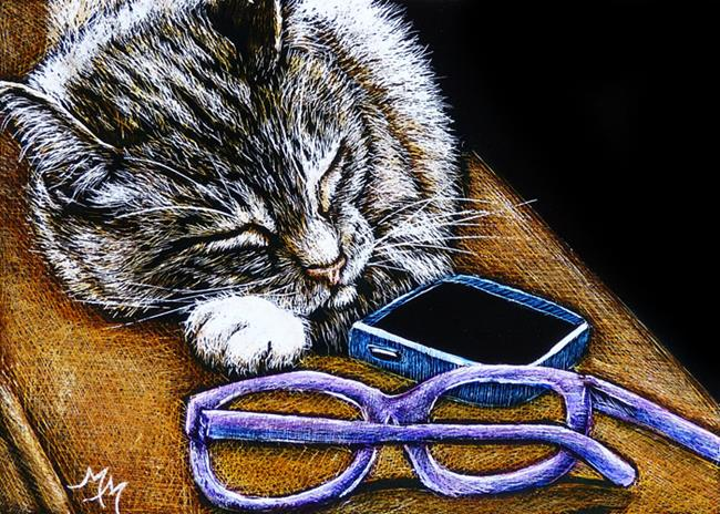 Art: Social Media Burnout  (SOLD) by Artist Monique Morin Matson