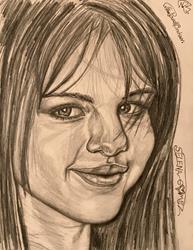 Art: ~.SELENA GORGEOUS GOMEZ.~ by Artist William Powell Brukner