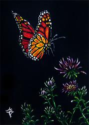 Art: Monarch Butterfly by Artist Monique Morin Matson