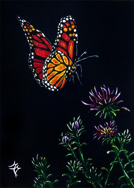 Art: Monarch Butterfly  (SOLD) by Artist Monique Morin Matson