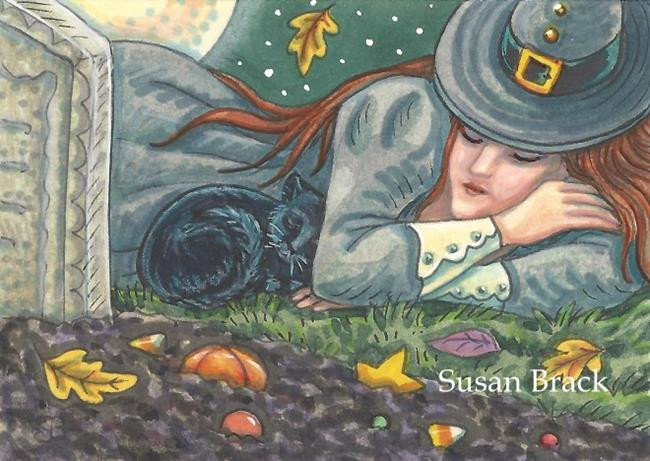 Art: DREAMS IN THE CEMETERY by Artist Susan Brack