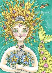 Art: BLOOMING MERMAID by Artist Susan Brack