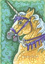Art: GOLDEN CHARGER by Artist Susan Brack